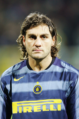 BREMEN, GERMANY - NOVEMBER 24:  A portrait of Christian Vieri of Inter Milan prior to the UEFA Champions League group G match between Werder Bremen and Inter Milan at The Weser Stadium on November 24, 2004 in Bremen, Germany.  (Photo by Stuart Franklin/Ge