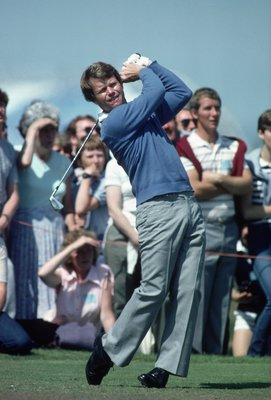 18 Jul 1982:  Tom Watson of the USA in action during the British Open played at Royal Troon in Scotland \ Mandatory Credit: Bob Martin /Allsport