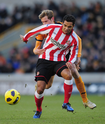 Richardson in action for Sunderland
