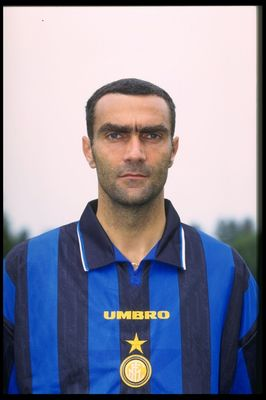 Aug 1996:  A portrait of Giuseppe Bergomi of Inter Milan taken during the club photocall. Mandatory Credit: Allsport