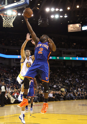OAKLAND, CA - NOVEMBER 19:  Raymond Felton #2 of the New York Knicks shoots the ball during their game against the Golden State Warriors at Oracle Arena on November 19, 2010 in Oakland, California. NOTE TO USER: User expressly acknowledges and agrees that
