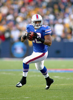 ORCHARD PARK, NY - NOVEMBER 28:  Fred Jackson #22 of the Buffalo Bills runs against the Pittsburgh Steelers at Ralph Wilson Stadium at Ralph Wilson Stadium on November 28, 2010 in Orchard Park, New York. Pittsburgh won 19-16 in overtime.  (Photo by Rick S