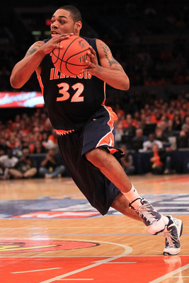 Illinois guard Demetri McCamey