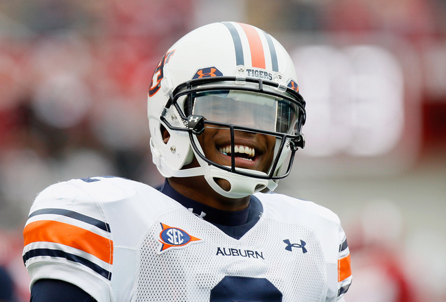 TUSCALOOSA, AL - NOVEMBER 26:  Quarterback Cam Newton #2 of the Auburn Tigers warms up before facing the Alabama Crimson Tide at Bryant-Denny Stadium on November 26, 2010 in Tuscaloosa, Alabama.  (Photo by Kevin C. Cox/Getty Images)