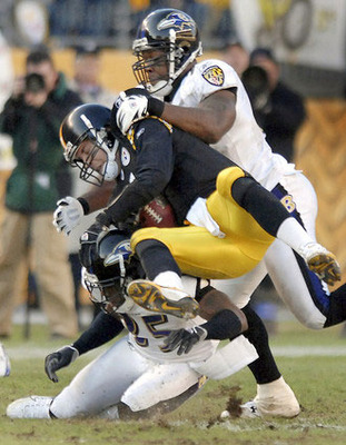 1 of 14 times the Ravens would get to Big Ben in sweep year of 2006