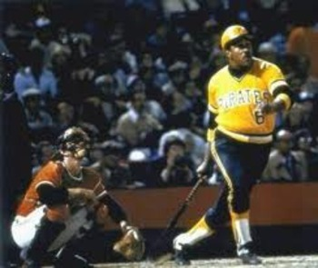 Willie Stargell watches a Scott McGregor pitch clear the right field wall in game 7