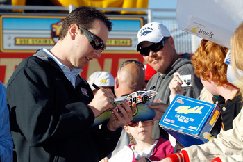 Kyle Busch did well in Family Feud.  He just answered Kyle Busch and was right twice.