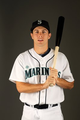 PEORIA, AZ - FEBRUARY 25:  Dustin Ackley of the Seattle Mariners poses during photo media day at the Mariners spring training complex on February 25, 2010 in Peoria, Arizona.  (Photo by Ezra Shaw/Getty Images)