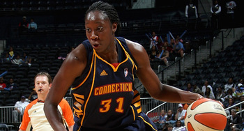 WNBA Rookie of the Year and Wolrd Champion Tina Charles