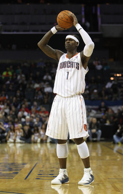 CHARLOTTE, NC - NOVEMBER 24:  Stephen Jackson #1 of the Charlotte Bobcats against the New York Knicks during their game at Time Warner Cable Arena on November 24, 2010 in Charlotte, North Carolina.  NOTE TO USER: User expressly acknowledges and agrees tha