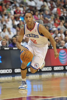 PHILADELPHIA - OCTOBER 27: Evan Turner #12 of the Philadelphia 76ers in action during the game against the Miami Heat at the Wells Fargo Center on October 27, 2010 in Philadelphia, Pennsylvania. NOTE TO USER: User expressly acknowledges and agrees that, b