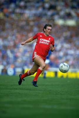 1986:  Kenny Dalglish of Liverpool in action during the Charity Shield match against Everton at Wembley Stadium in London. The match ended in a 1-1 draw. \ Mandatory Credit: David  Cannon/Allsport