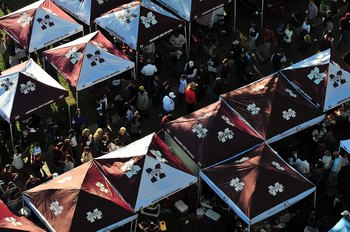 STARKVILLE, MS - OCTOBER 24:  Fans tailgating prior to the Mississippi State v University of Florida Gator game, at Davis Wade Stadium on  October 24, 2009 in Starkville, Mississippi  (Photo by Rick Dole/Getty Images)