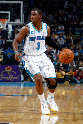 NEW ORLEANS - NOVEMBER 17:  Chris Paul #3 of the New Orleans Hornets drives the ball up the court during the game against the Dallas Mavericks at the New Orleans Arena on November 17, 2010 in New Orleans, Louisiana.  NOTE TO USER: User expressly acknowled