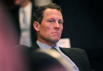NEW YORK - SEPTEMBER 22:  Lance Armstrong, cyclist and founder and chairman of LIVESTRONG, looks on during the annual Clinton Global Initiative (CGI) September 22, 2010 in New York City. The sixth annual meeting of the CGI gathers prominent individuals in