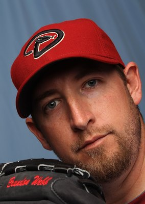 TUCSON, AZ - FEBRUARY 27:  Brandon Webb of the Arizona Diamondbacks poses for a photo during Spring Training Media Photo Day at Tucson Electric Park on February 27, 2010 in Tucson, Arizona.  (Photo by Ronald Martinez/Getty Images)