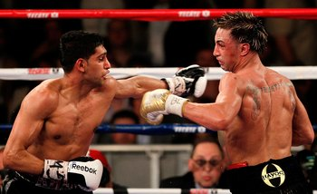Khan made the normally speedy Malignaggi look slow