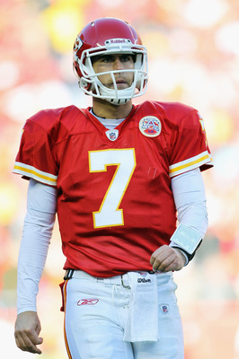 KANSAS CITY, MO - DECEMBER 05:  Quarterback Matt Cassel #7 of the Kansas City Chiefs in action during the game against the Denver Broncos on December 5, 2010 at Arrowhead Stadium in Kansas City, Missouri.  (Photo by Jamie Squire/Getty Images)