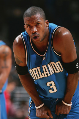 CHICAGO - NOVEMBER 29:  Steve Francis #3 of the Orlando Magic looks on against the Chicago Bulls on November 29, 2005 at the United Center in Chicago, Illinois. The Bulls defeated the Magic 85-76. NOTE TO USER: User expressly acknowledges and agreees that