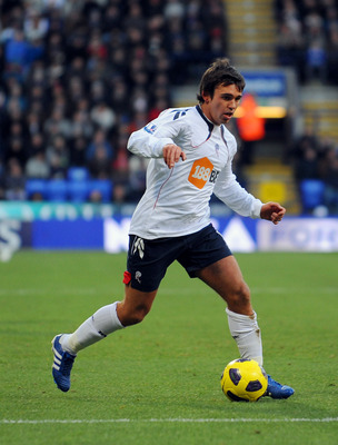 BOLTON, UNITED KINGDOM - NOVEMBER 27: Mark Davies of Bolton in action during the Barclays Premier League match between Bolton Wanderers and Blackpool at the Reebok Stadium on November 27, 2010 in Bolton, England. (Photo by Clint Hughes/Getty Images)
