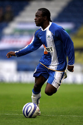 OLDHAM, ENGLAND - JULY 20:  Victor Moses of Wigan runs with the ball during the pre season friendly match between Oldham Athletic and Wigan Athletic at Boundary Park on July 20, 2010 in Oldham, England.  (Photo by David Rogers/Getty Images)