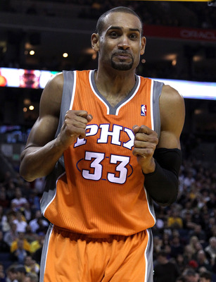 OAKLAND, CA - DECEMBER 02:  Grant Hill #33 of the Phoenix Suns reacts after being fouled by the Golden State Warriors at Oracle Arena on December 2, 2010 in Oakland, California. NOTE TO USER: User expressly acknowledges and agrees that, by downloading and