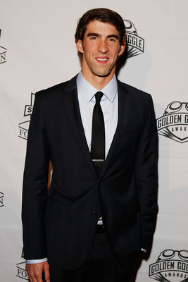 NEW YORK - NOVEMBER 22:  Michael Phelps of the U.S. National Swim Team poses for a photo on the red carpet prior to the 7th Annual Golden Goggle Awards at the Marriott Marquis on November 22, 2010 in New York City.  (Photo by Mike Stobe/Getty Images)
