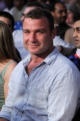 NEW YORK - JUNE 05:  Aator Liev Schreiber smiles as he watches the bout between James Moore and Pawel Wolak during the super welterweight fight on June 5, 2010 at Yankee Stadium in the Bronx borough of New York City. Wolak wins by unanimous decision 97-93