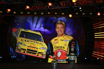 Clint Bowyer stole the show during NASCAR Champions week in Las Vegas.