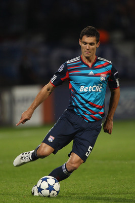 LYON, FRANCE - SEPTEMBER 14: Dejan Lovren of Lyon during the UEFA Champions League Group B match between Olympique Lyonnais and FC Schalke 04 at the Stade de Gerland on September 14, 2010 in Lyon, France.  (Photo by Michael Steele/Getty Images)