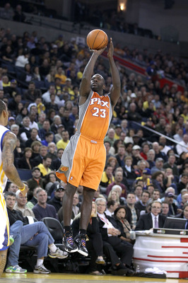 OAKLAND, CA - DECEMBER 02:  Jason Richardson #23 of the Phoenix Suns in action against the Golden State Warriors at Oracle Arena on December 2, 2010 in Oakland, California. NOTE TO USER: User expressly acknowledges and agrees that, by downloading and or u
