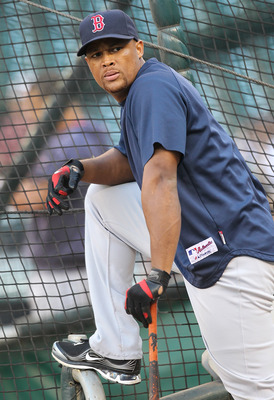 SEATTLE - SEPTEMBER 13:  Adrian Beltre #29 of the Boston Red Sox waits to hit during batting practice prior to the game against the Seattle Mariners at Safeco Field on September 13, 2010 in Seattle, Washington. (Photo by Otto Greule Jr/Getty Images)