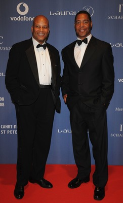 ST. PETERSBURG, RUSSIA - FEBRUARY 18:  Ex NFL players Ronnie Lott (L) and Marcus Allen arrive at the Laureus World Sports Awards at the Mariinsky Concert Hall on February 18, 2008 in St.Petersburg, Russia.  (Photo by Pascal Le Segretain/Getty Images for L