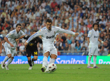 Ronaldo scored 4 penalties in 2010 so far