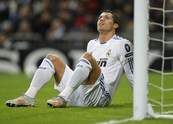 Ronaldo, tired of the battle so far.