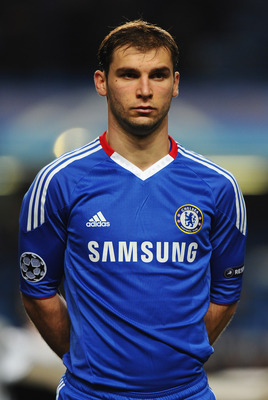LONDON, ENGLAND - NOVEMBER 23: Branislav Ivanovic of Chelsea looks on during the UEFA Champions League Group F match between Chelsea and MSK Zilina at Stamford Bridge on November 23, 2010 in London, England.  (Photo by Mike Hewitt/Getty Images)
