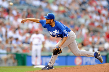 WASHINGTON - JUNE 23:  Joakim Soria #48 of the Kansas City Royals pitches against the Washington Nationals at Nationals Park on June 23, 2010 in Washington, DC.  (Photo by Greg Fiume/Getty Images)