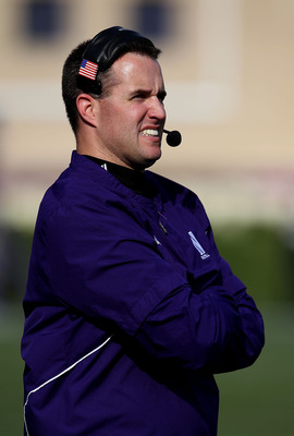 Pat Fitzgerald struggled this year at Northwestern despite a promising start, and his job is on the hot seat.