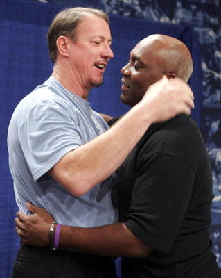 Jim Kelly and Thurman Thomas