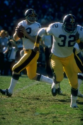 Terry Bradshaw and Franco Harris