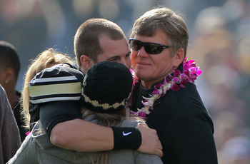 Senior Day at Colorado was a rather awkward affair for Dan Hawkins and his son Cody.