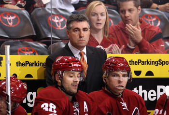 Coyotes head coach, Dave Tippett, is bummed about playing at the Jobing.com Arena.