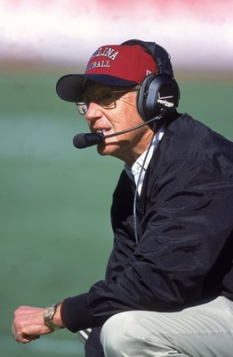 1 Jan 2001:  Head Coach Lou Holtz of the South Carolina Gamecocks looks on during the Outback Bowl Game against the Ohio State Buckeyes at the Raymond James Stadium in Tampa, Florida.  The Gamecocks defeated the Buckeyes 24-7.Mandatory Credit: Scott Halle