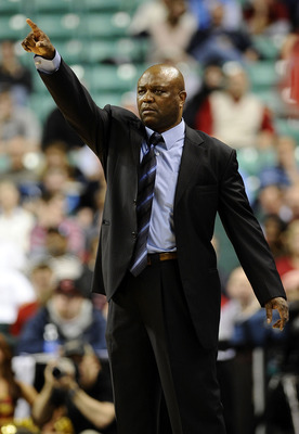 GREENSBORO, NC - MARCH 12:  Head coach Leonard Hamilton of the Florida State Seminoles gestures during the quarterfinal game against the North Carolina State Wolfpack in the 2010 ACC Men's Basketball Tournament at the Greensboro Coliseum on March 12, 2010