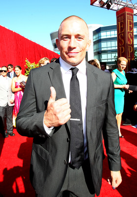 LOS ANGELES, CA - JULY 14: MMA Fighter Georges St-Pierre arrives at the 2010 ESPY Awards at Nokia Theatre L.A. Live on July 14, 2010 in Los Angeles, California.  (Photo by Alexandra Wyman/Getty Images for ESPY)
