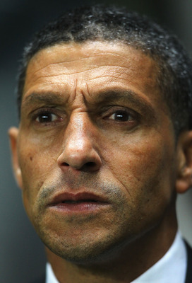 NEWCASTLE UPON TYNE, ENGLAND - NOVEMBER 10:  Chris Hughton, manager of Newcastle United looks on during the Barclays Premier League match between Newcastle United and Blackburn Rovers at St James' Park on November 10, 2010 in Newcastle upon Tyne, England.