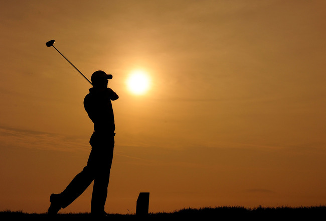 KOHLER, WI - AUGUST 10:  Sean O'Hair hits a tee shot during a practice round prior to the start of the 92nd PGA Championship on the Straits Course at Whistling Straits on August 10, 2010 in Kohler, Wisconsin.  (Photo by Stuart Franklin/Getty Images)