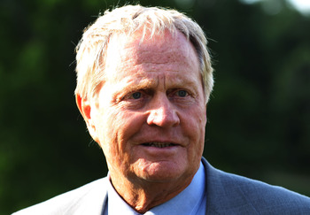 DUBLIN, OH - JUNE 06:  Tournament host Jack Nicklaus is seen at the trophy presentation at the Memorial Tournament presented by Morgan Stanley at Muirfield Village Golf Club on June 6, 2010 in Dublin, Ohio.  (Photo by Scott Halleran/Getty Images)