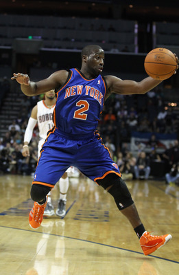 CHARLOTTE, NC - NOVEMBER 24:  Raymond Felton #2 of the New York Knicks against the Charlotte Bobcats at Time Warner Cable Arena on November 24, 2010 in Charlotte, North Carolina.  NOTE TO USER: User expressly acknowledges and agrees that, by downloading a
