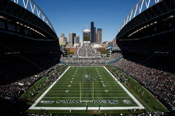 SEATTLE , WA - OCTOBER 11:  A general view of Qwest Field during the Seattle Seahawks v Jacksonville Jaguars game at Qwest Field on October 11, 2009 in Seattle, Washington.  (Photo by Jonathan Ferrey/Getty Images)